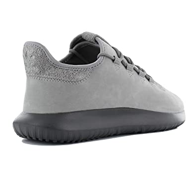 adidas Originals Tubular Shadow Leather Herren Schuhe Sneaker Turnschuhe Leder Grau