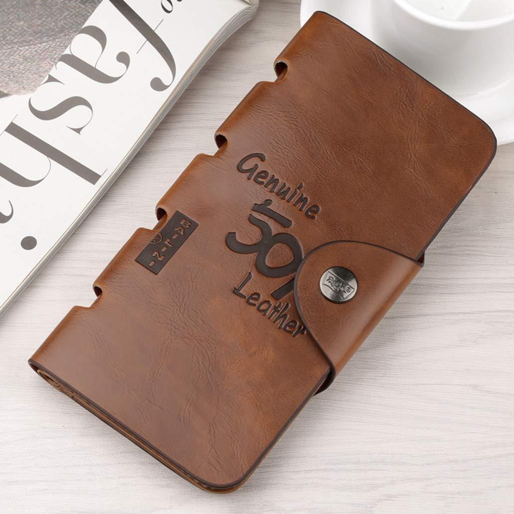 973a5f629b2d RFID Blocking Slim Bifold Minimalist Soft Leather Wallet Card Holder ...