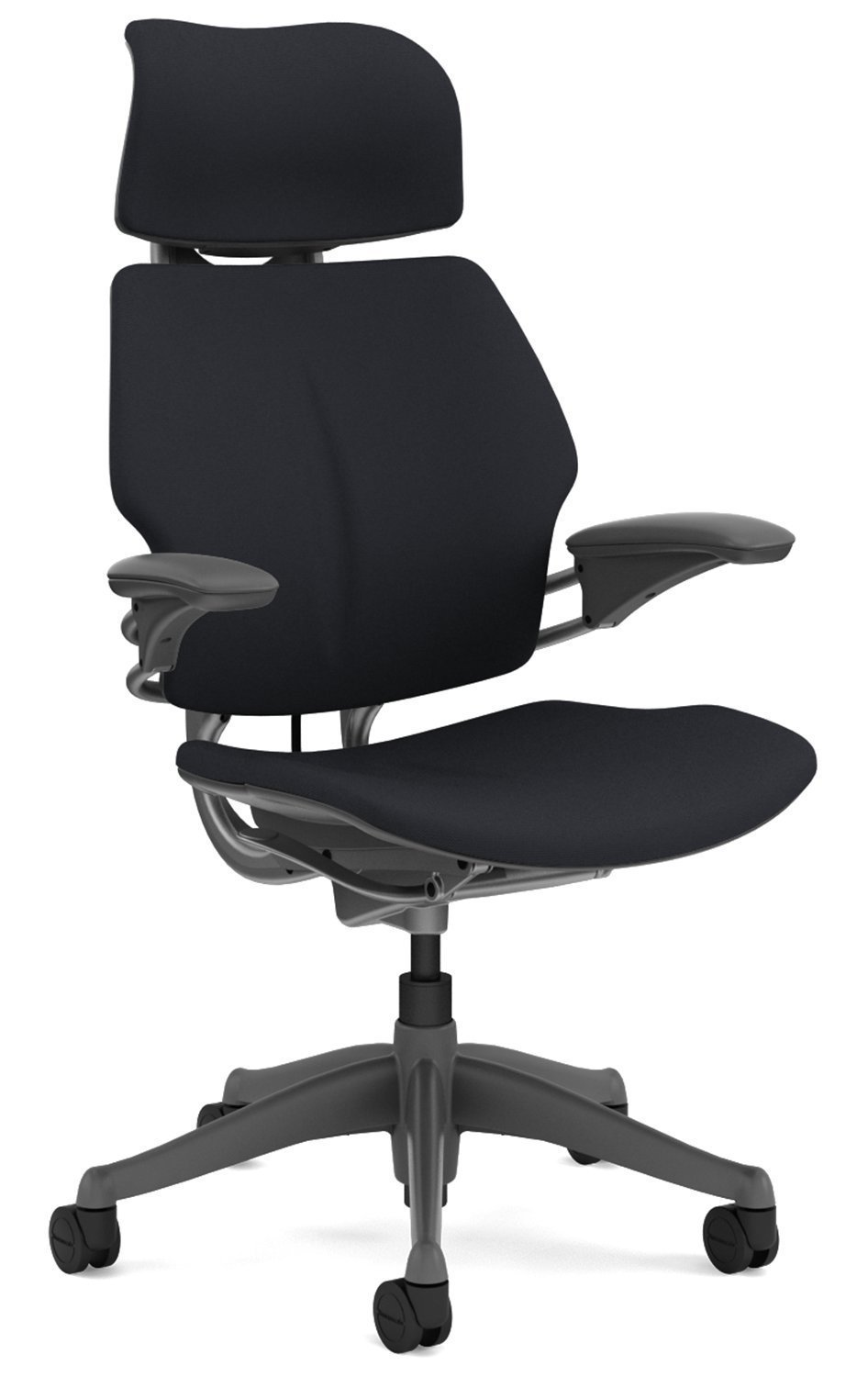 Freedom chair leather - Amazon Com Freedom Chair By Humanscale Headrest Advanced Duron Arms Gel Seat Standard Carpet Casters Titanium Frame Graphite Wave Seat Kitchen