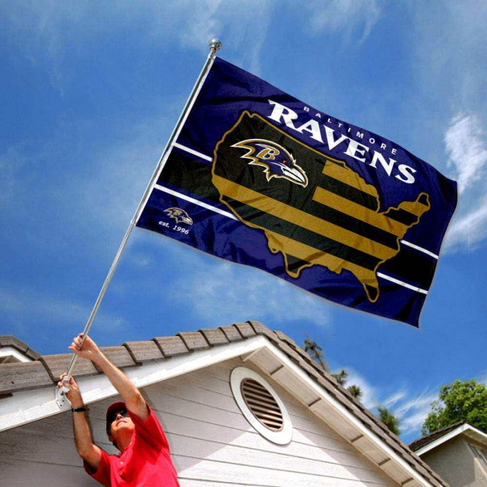 WinCraft Baltimore Ravens Nation USA American Country 3x5 Flag