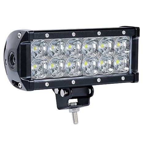 Amazon nilight 75 36w spot led light bar 12v led work light nilight 75quot 36w spot led light bar 12v led work light super bright driving lamp aloadofball Choice Image