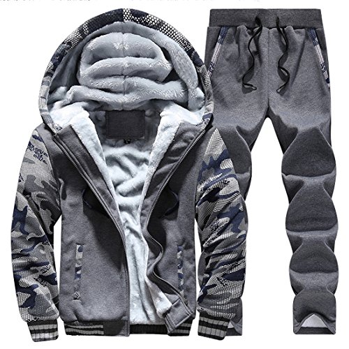 Cheap Susanny Winter Men's Thick Velvet Hoodies Sweatshirts Coat Pants Zip Jacket Sport Tracksuit