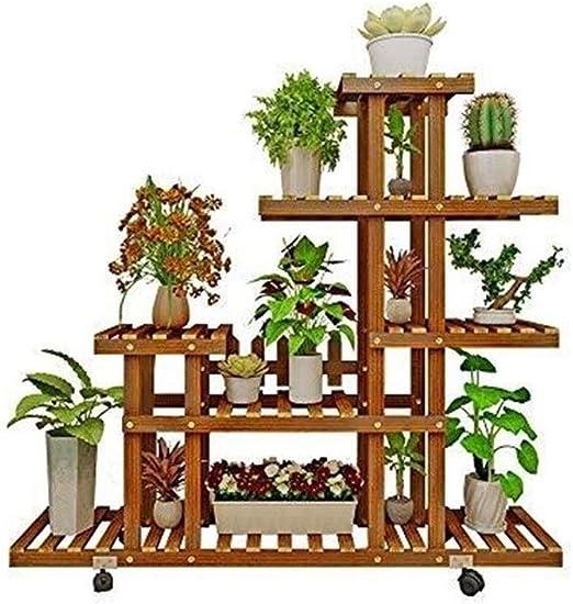Estanterias De Jardin Soporte De Exhibición De Múltiples Capas Soporte De Flores con Jardín Estante De Madera Balcón Soporte De Planta Decorativo: Amazon.es: Hogar