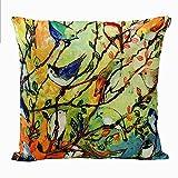 Anickal Cotton Linen Square Decorative Throw Pillow Case Cushion Cover 18