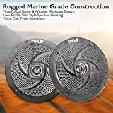 Pyle Marine Speakers - 5.25 Inch Low Profile Slim