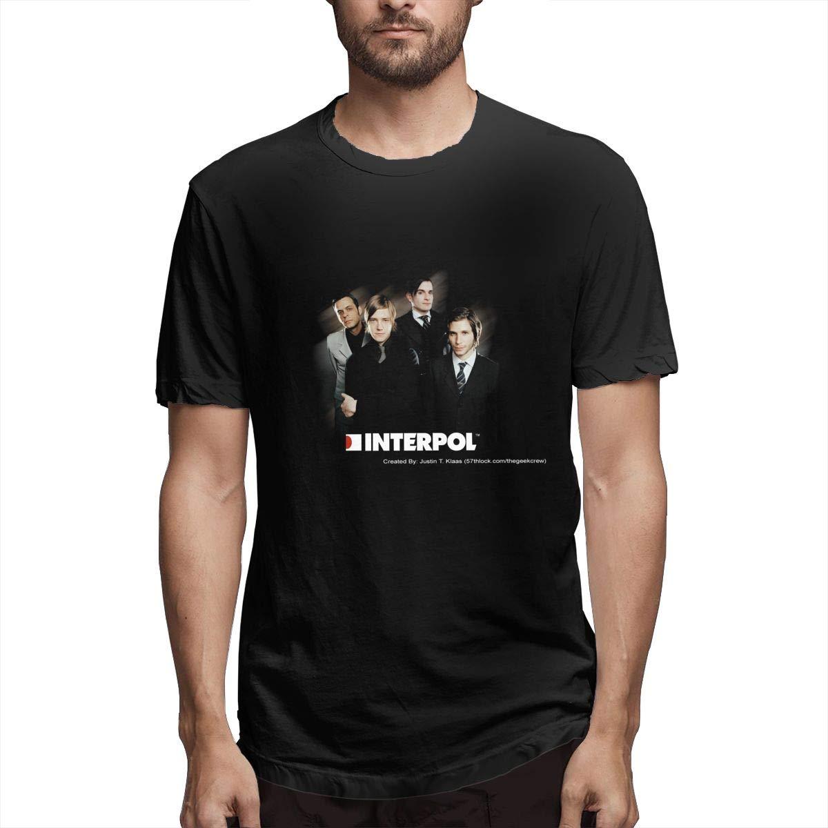 BOBOEN Men Interpol Simple Regular T Shirt