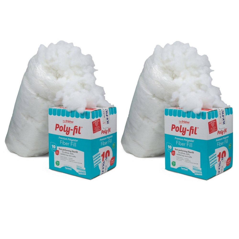 Fairfield PF-10 Poly-Fil Premium Fiber (sdfg, 2 Pack) by Fairfield