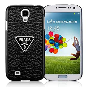Prada Logo Black Case for Samsung Galaxy S4 i9500,Prefectly fit and directly access all the features
