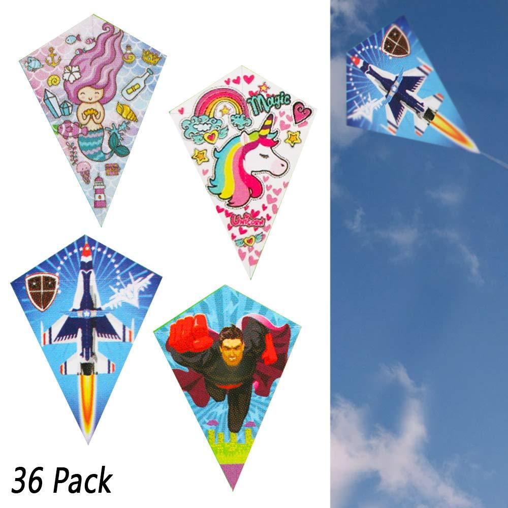 36ロット ダイヤモンド凧 シングルライン アウトドア 子供のおもちゃ ビーチ 楽しいゲーム 卸売 B07QMW9HJM