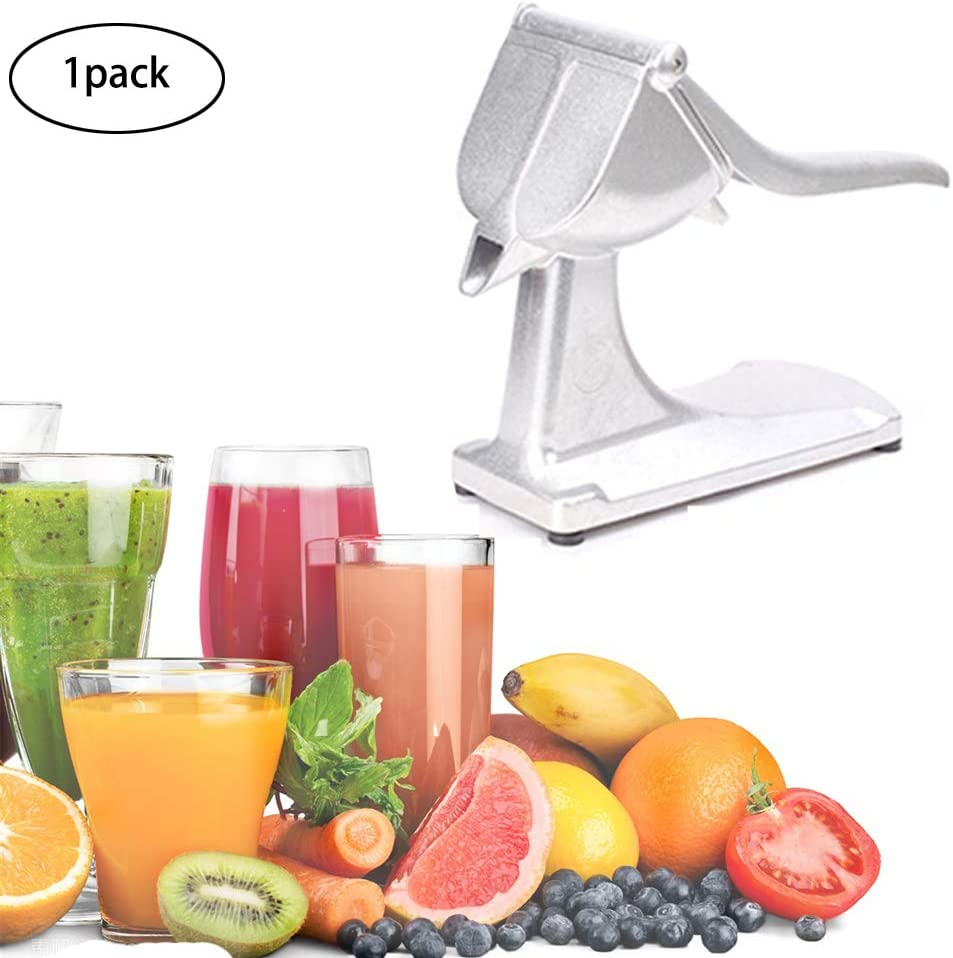 Aluminum Alloy Lemon Squeezer Heavy Duty Single Press Lemon Squeezer Manual Juicer Stainless Steel Detachable Lime Squeezer Portable Manual Juicer Single Press Lemon Squeezer Lemon Orange Juicer 1pack