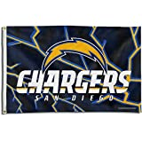 Rico San Diego Chargers PV Helmet 3x5 Flag w/grommets Outdoor Banner Football