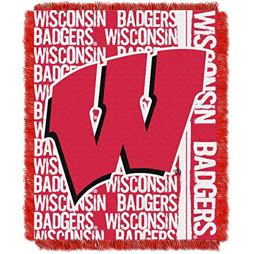 - Northwest The Company Wisconsin Badgers Double Play Woven Jacquard Throw Blanket