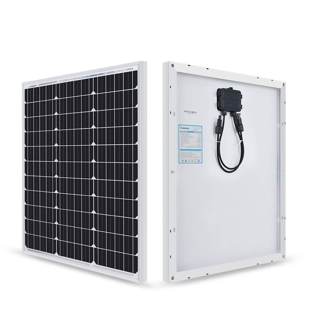 Renogy 50 Watt 12 Volt Monocrystalline Solar Panel (Compact Design) by Renogy