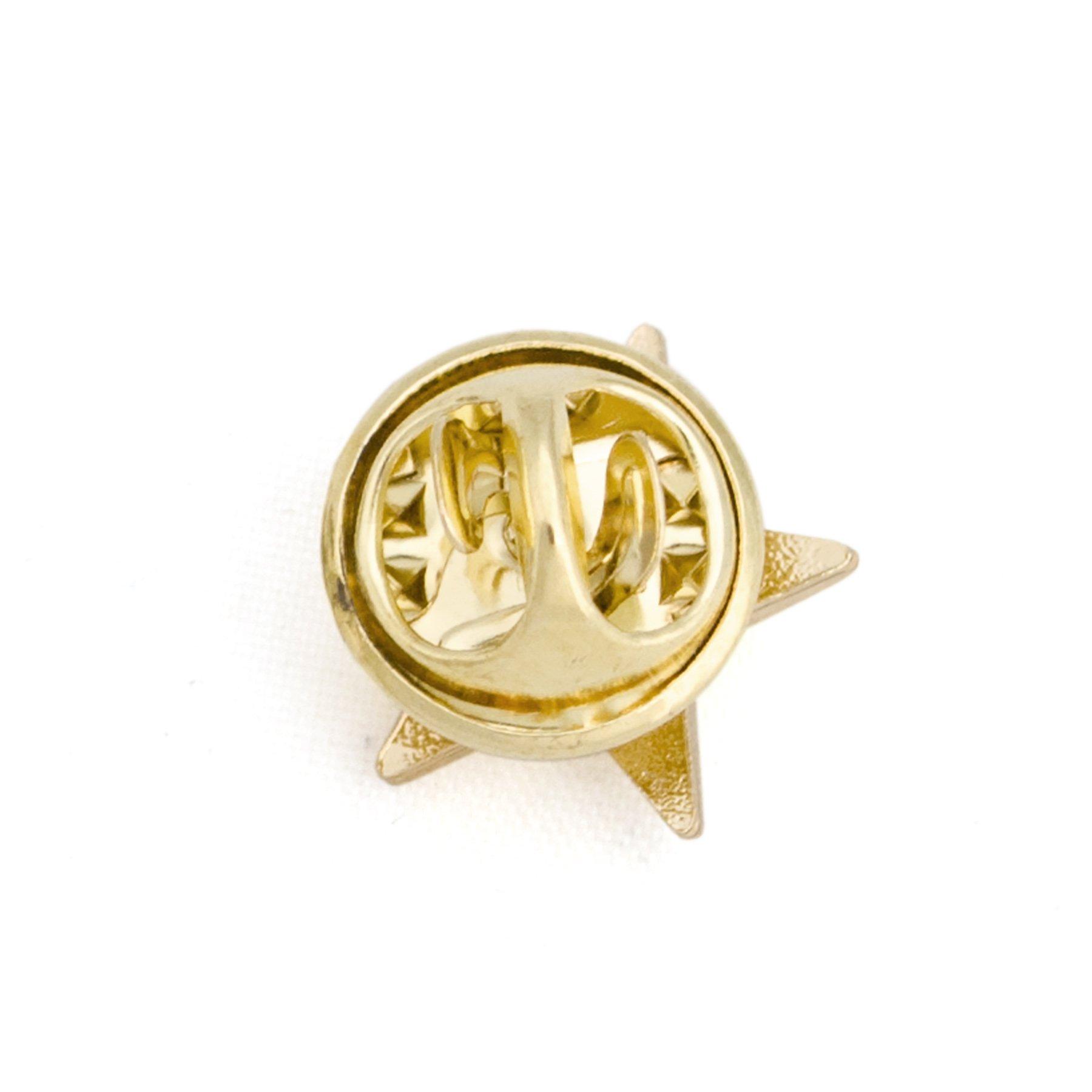 (Price/100PCS) ALICE 3D Metallic Finish Star Lapel Pin, 1/2'' - Bronze by Alice (Image #1)