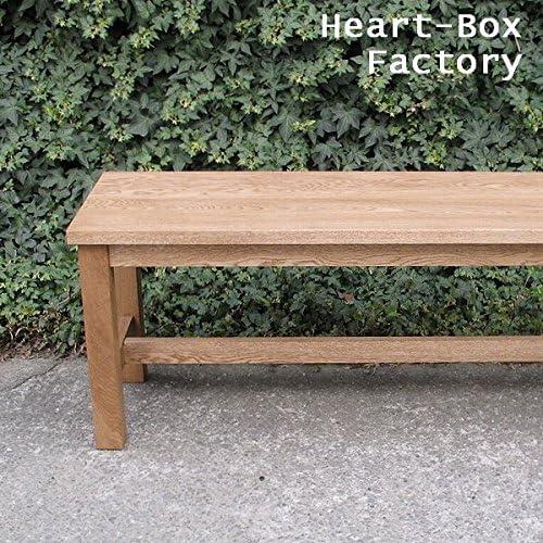 Heart-Box ベンチ オーク材 ブラウン