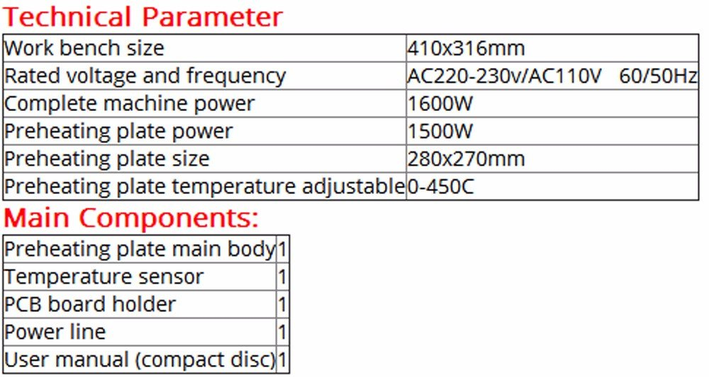 T8280 Preheating Furnace T-8280 Large Power Large Area Preheating Table 0-450 by Original (Image #1)