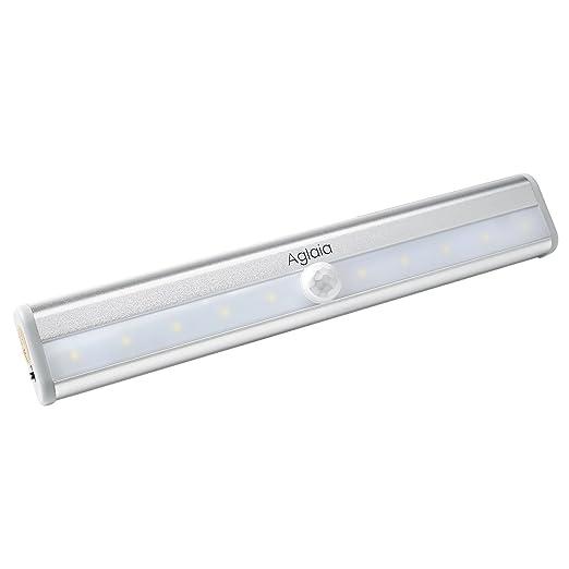 165 opinioni per Aglaia Luce Armadio LED Lampada Sensore Movimento, Batteria Ricaricabile 600mAh
