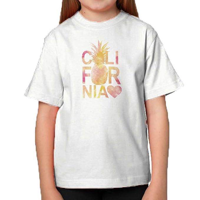 brisco marcas California amor corazón piña Costa Oeste Cali Estados Unidos Fashion juventud camiseta - Blanco