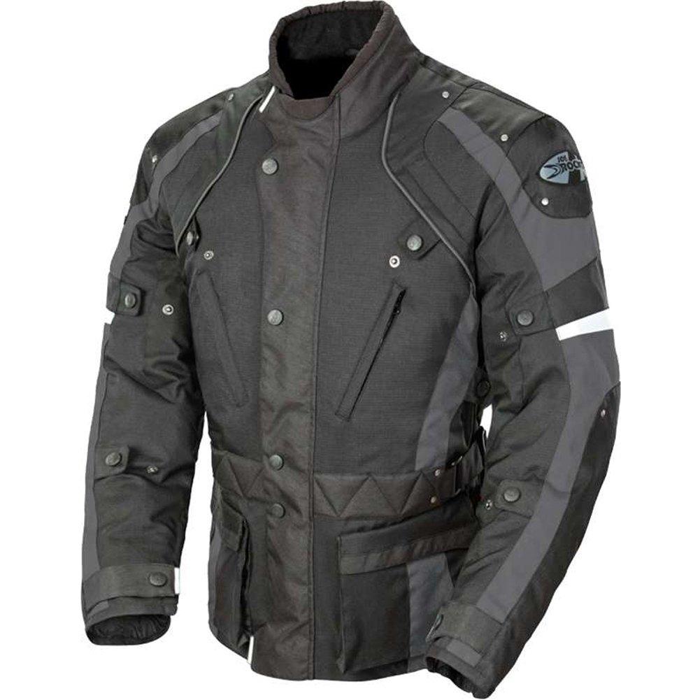 Joe Rocket Ballistic Revolution Men's Textile Sports Bike Motorcycle Jacket - Black/Grey / Large