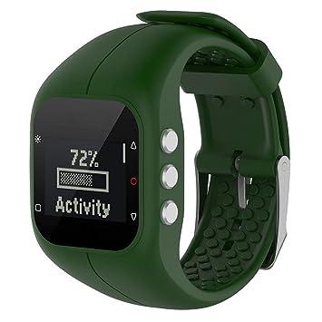 3721cce32f74 Correa de Kobwa, de silicona, de estilo deportivo, para smartwatch Polar  A300, como repuesto
