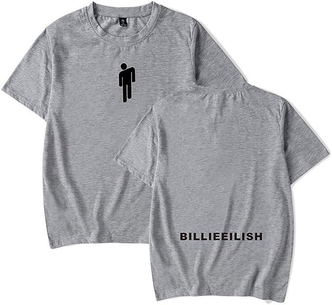 Image of Mujer Hombre Casual Camisetas Manga Corta Impresión Billie Eilish Hip-Hop Singer Tops XXS-4XL