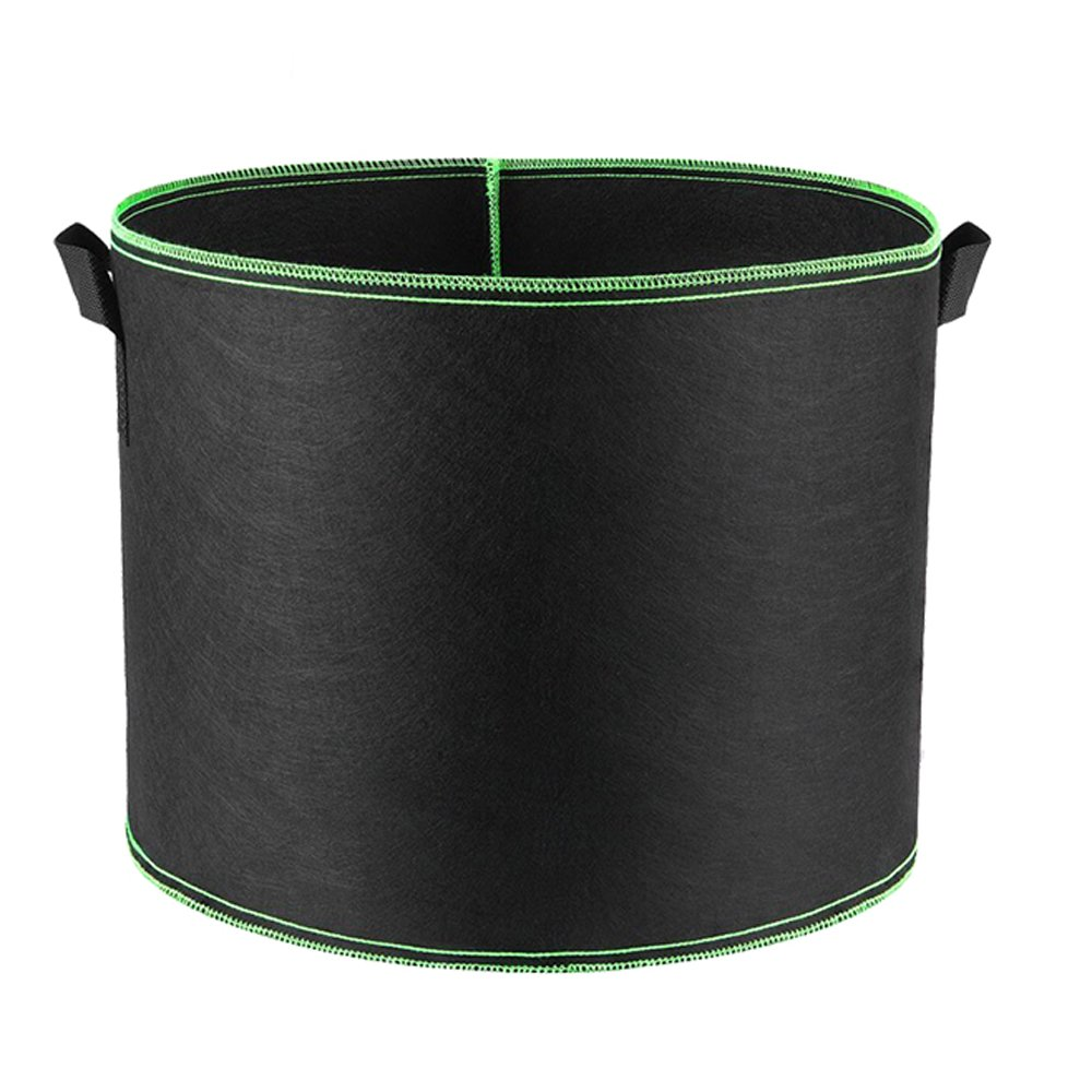 Hongville Grow Bags /Aeration Fabric Pots with Handles, 15 gal, Green, Pack of 5 by Hongville