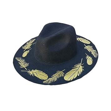 bajo costo mejores ofertas en baratas Hombres y Mujeres con Gorros de Fieltro Sombrero de Aleros ...