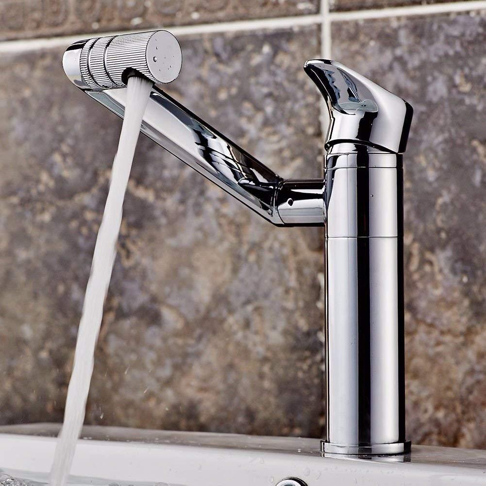 JingJingnet 洗面器ミキサータップ浴室のシンクの蛇口洗面器冷水タップシングル穴洗面器ミキサー手を洗う、標準) (Color : Standard)) B07R1G811N Standard)
