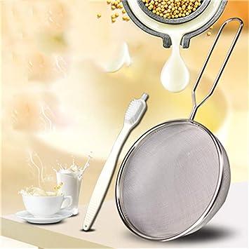 Jugo de leche de soja súper fino, pantalla de fideos de medicina china, accesorios de máquina de leche de frijol de acero inoxidable, Diámetro 14 cm: ...