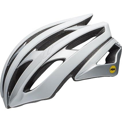 bfa57b79762 Amazon.com   Bell Stratus MIPS Helmet Matte White Silver Reflective ...