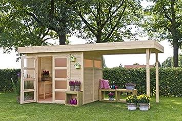 Caseta de jardín modelo Vermont con porche: Amazon.es: Bricolaje y herramientas