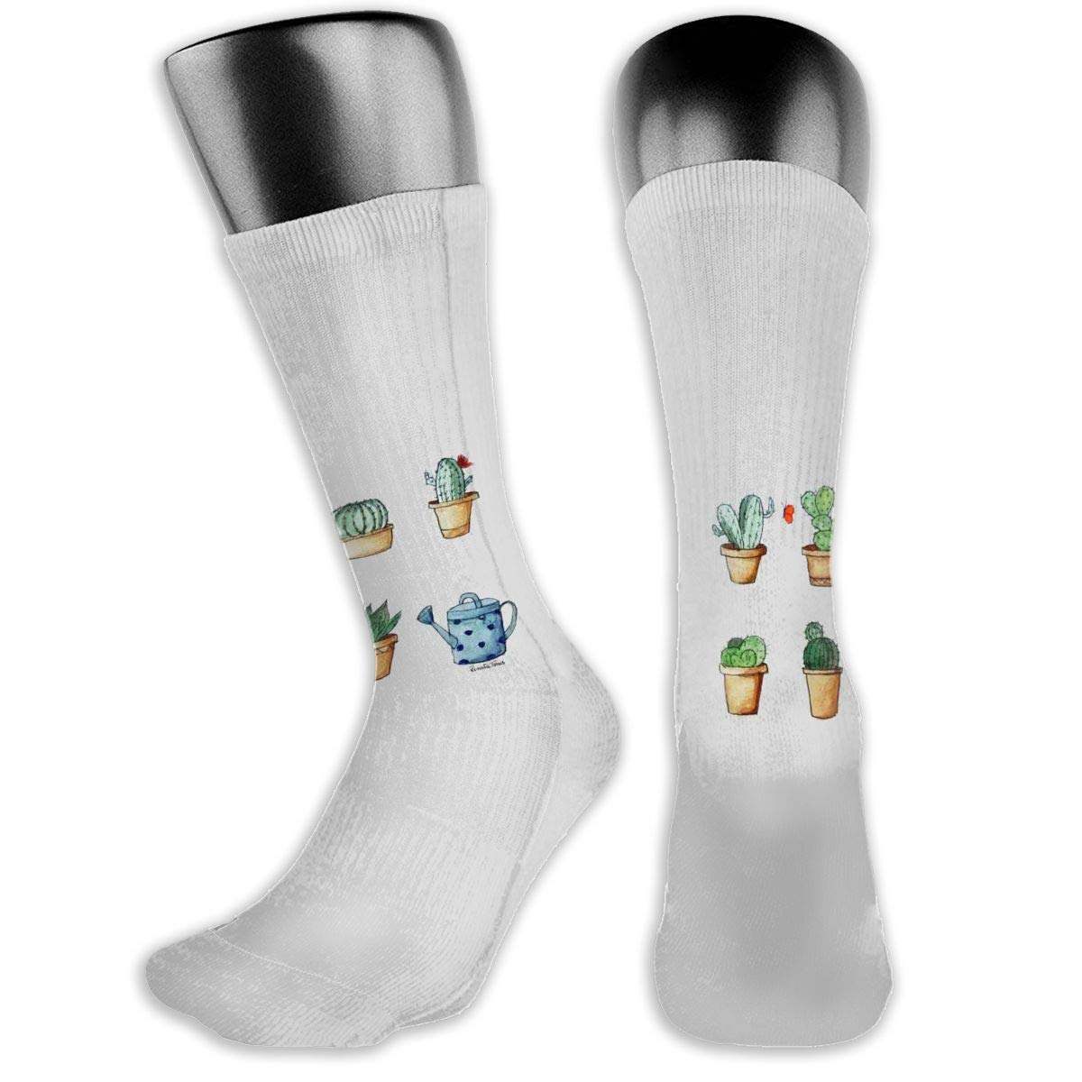 OLGCZM Watercolor Cactus Men Womens Thin High Ankle Casual Socks Fit Outdoor Hiking Trail