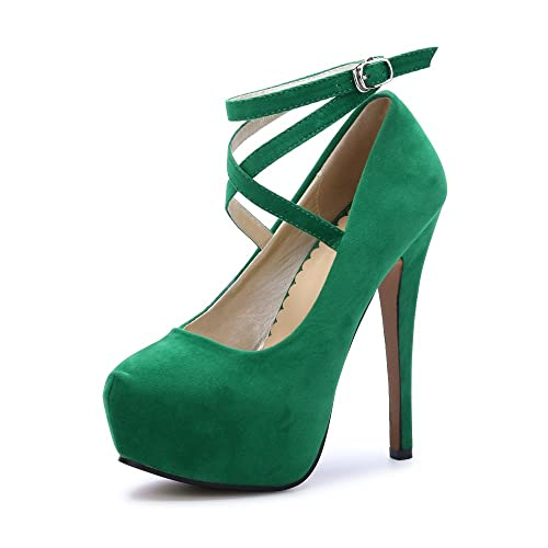 Dress Green Heels: Amazon.com