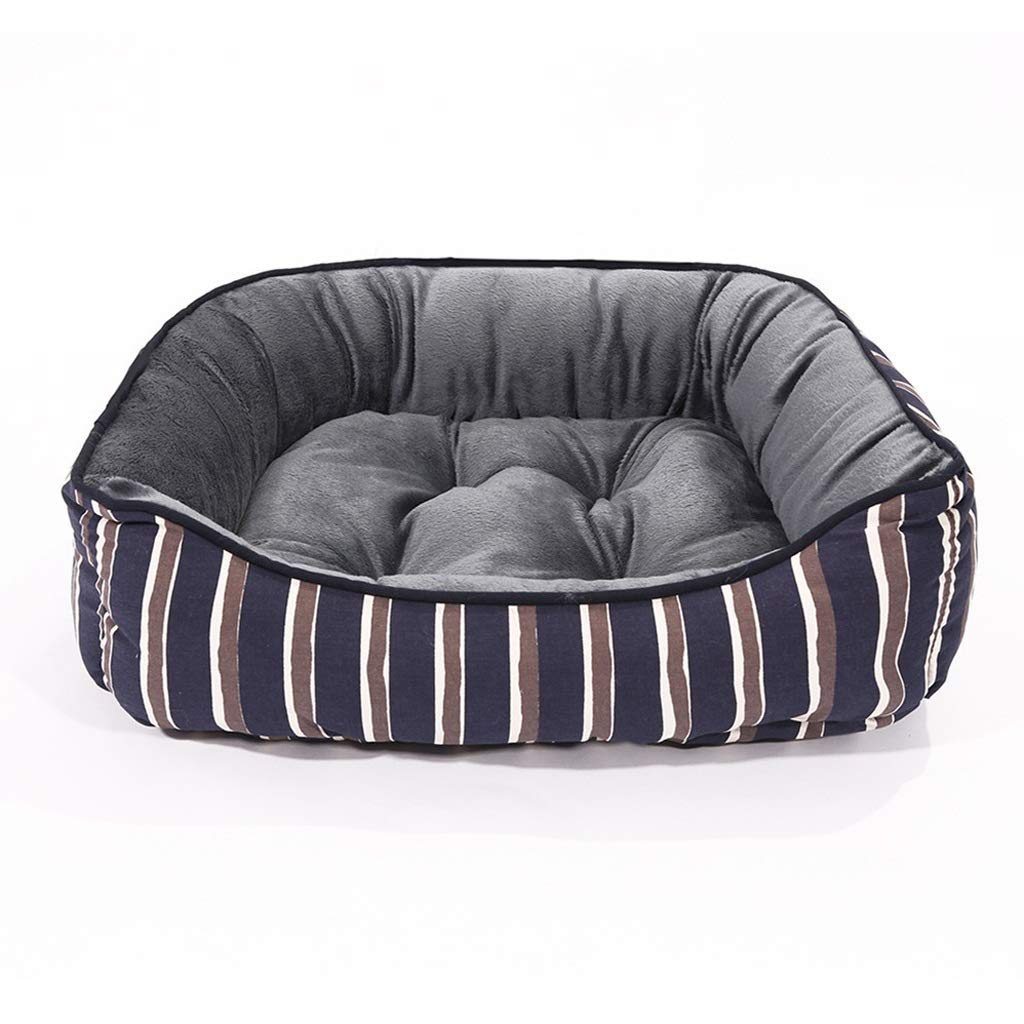 55x45x16CM ZRL77y Pet Mats Printed Canvas Velvet Fashion Kennel For Puppies And Kittens Pet Bed (Size   55x45x16CM)