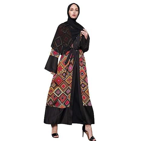 6caed42be2b73 Amazon.com: Muslim Dress Dubai Kaftan Women's Long Sleeve Long Dress ...