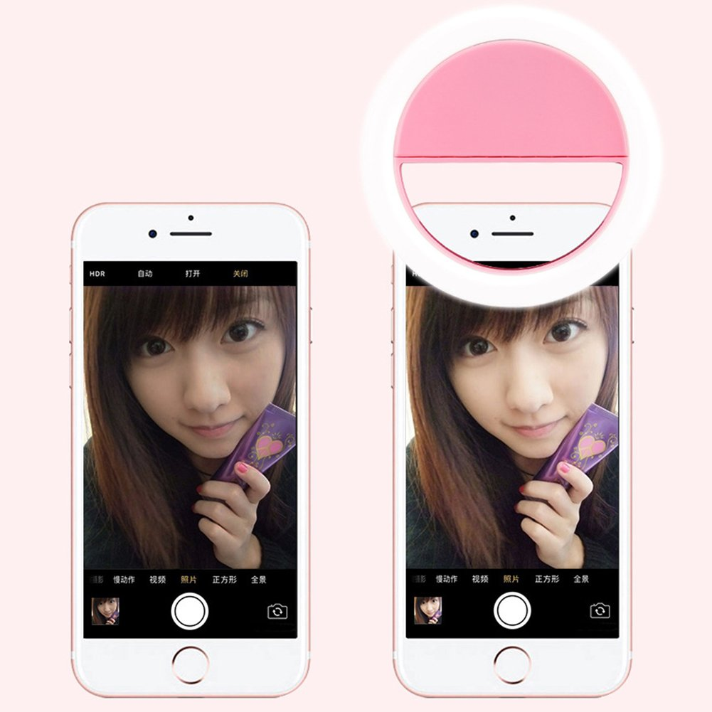SuBoZhuLiuJ Mini Selfie LED Ring Light Clip Fill Light Ring Photography Self-Timer Artifact for iPhone Android Phone by SuBoZhuLiuJ (Image #6)