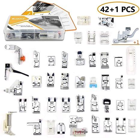 simpzia 42 piezas para máquina de coser juego de pies prensatelas ...