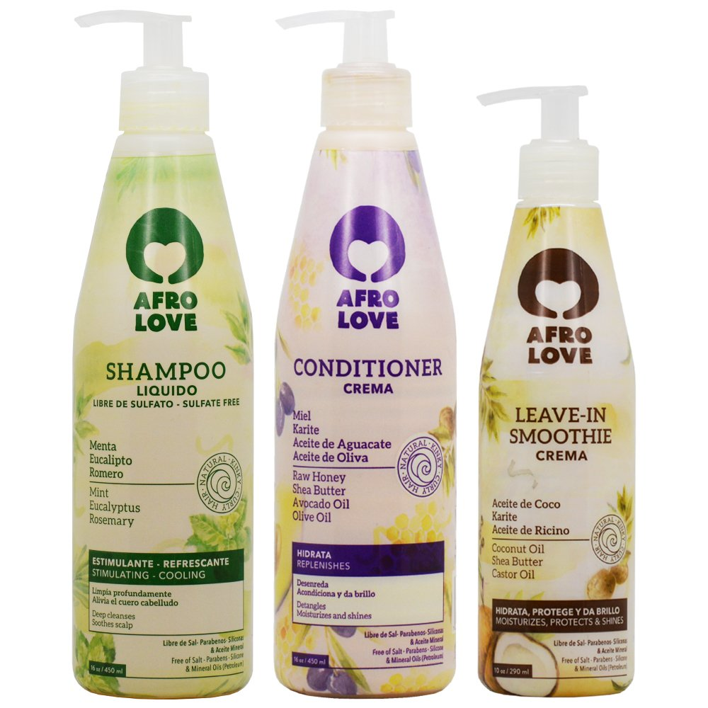 Amazon.com : Afro Love Shampoo & Conditioner 16oz + Leave-in Smoothie 10oz