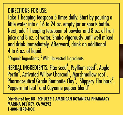 Dr. Schulze's | Intestinal Formula #2 | Herbal Colon Cleanse Formula | Natural Detox Powder| Dietary Supplement | Remove Excess Waste, Poisons & Build-Up | Gastroenteric Vacuum | 8 Oz. Jar (2 Pack) by Dr. Schulze's (Image #2)