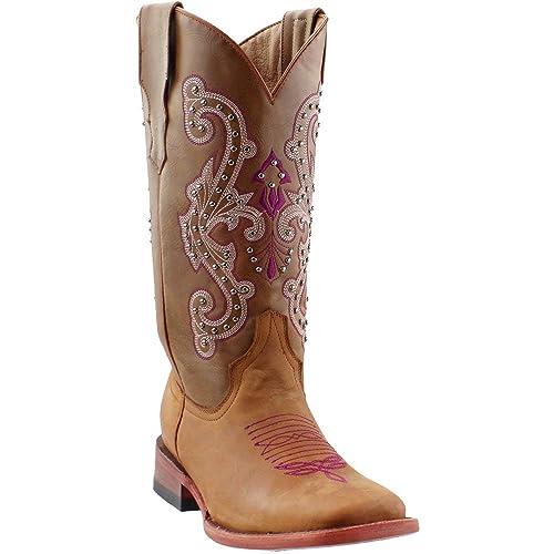 92055cdab90 Amazon.com | Ferrini Womens Studded Cowgirl s Western Boots | Boots