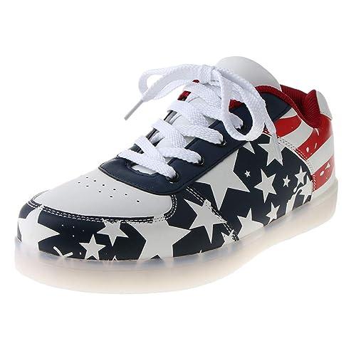 perfeclan Zapatos de Deporte con Luces led Luminosa Cargador de USB para Deporte Viaje Caminata: Amazon.es: Zapatos y complementos