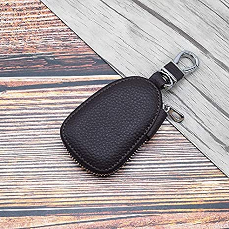 schwarz Schlüsseltasche *Echt Leder* oval D