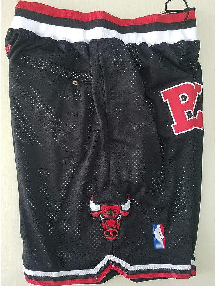 S-2XL s/échage rapide en maille respirante jeunesse Active Athletic Entra/înement Gym Course Short avec poches Chicago Bulls Short de basket-ball pour homme