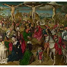 Oil Painting 'Master Of Delft The Crucifixion Central Panel ' Printing On Polyster Canvas , 8 X 8 Inch / 20 X 21 Cm ,the Best Gym Artwork And Home Decoration And Gifts Is This Art Decorative Canvas Prints