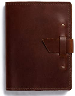 product image for Wasatch Leather Notebook by Rustico with Buckle Closure, 7.25 by 5.5 Inches, Saddle Brown, Made in The USA