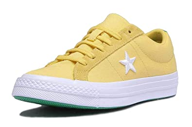 1a6ce10a22ba Converse 160596C Womens Yellow Canvas Trainer (UK 6