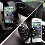 2-in-1 Mobile Phone Car Mount, Asscom...