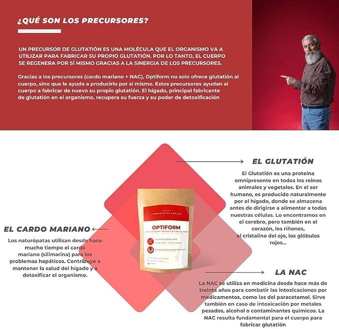 L-GLUTATIÓN reducido al 98% 400mg + Precursores Glutatión (Cardo Mariano, N-Acetyl L Cisteína, Acerola orgánica) | Antioxidante, Antienvejecimiento, ...