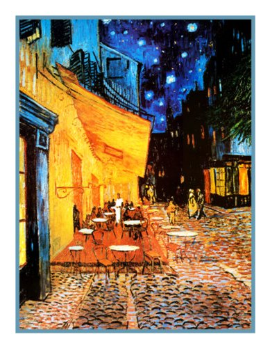 (Orenco Originals Cafe Terrace at Night by Vincent Van Gogh Counted Cross Stitch Pattern)