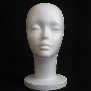 "1PC WIG FEMALE STYROFOAM HEAD FOAM MANNEQUIN DISPLAY 12/"""